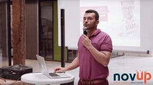 François Amisse présente le Lean Canvas pour lancer le Startup week-end Nantes 2016